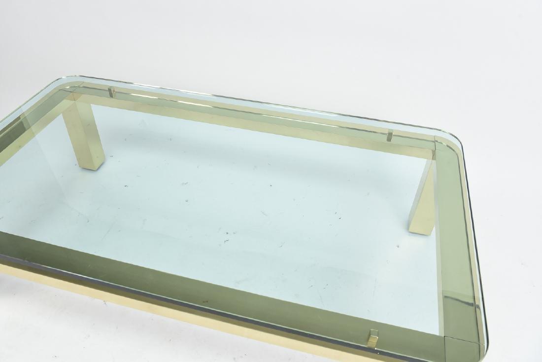 BRASS & GLASS TOP COFFEE TABLE - 3