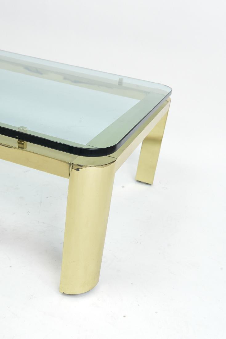 BRASS & GLASS TOP COFFEE TABLE - 4