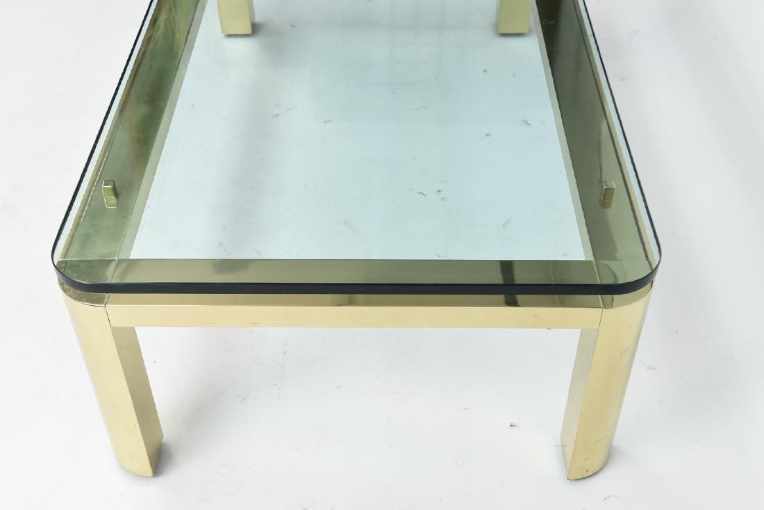 BRASS & GLASS TOP COFFEE TABLE - 5