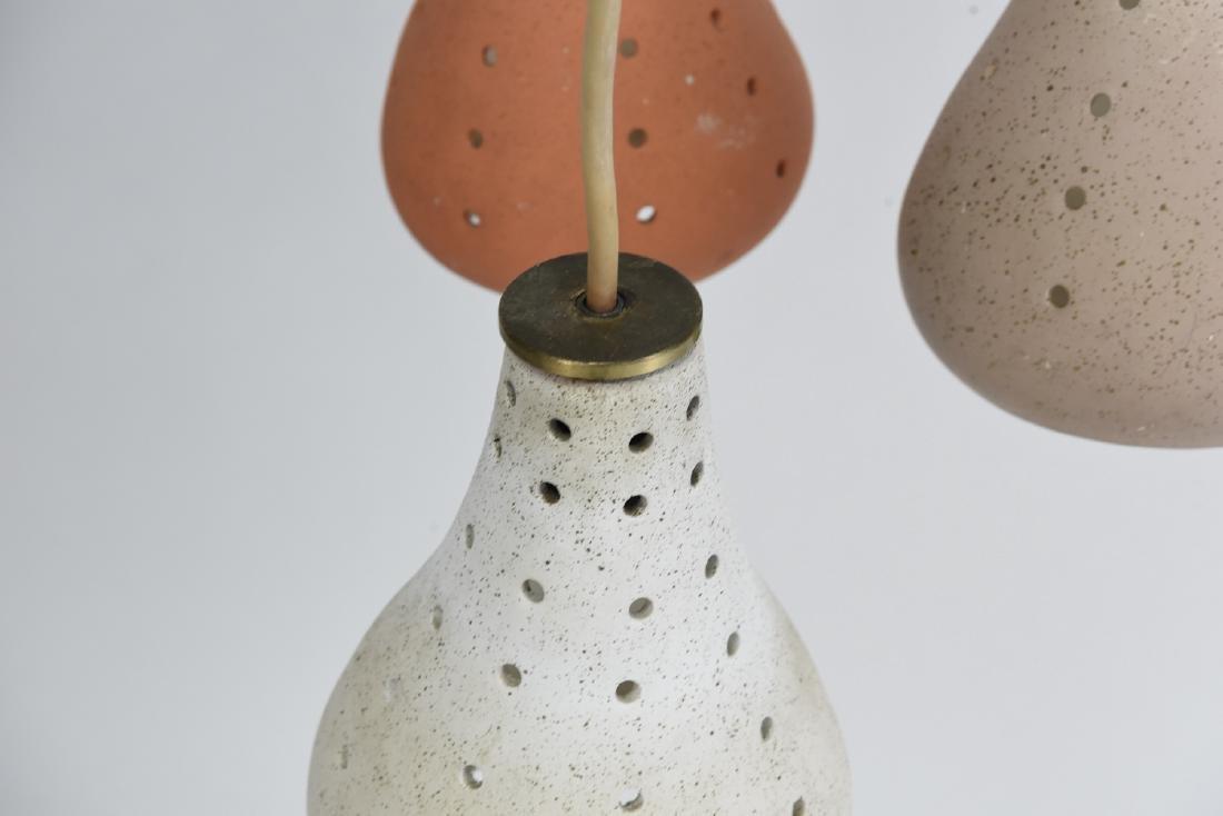 CERAMIC THREE LIGHT HANGING PENDANT LAMP - 2
