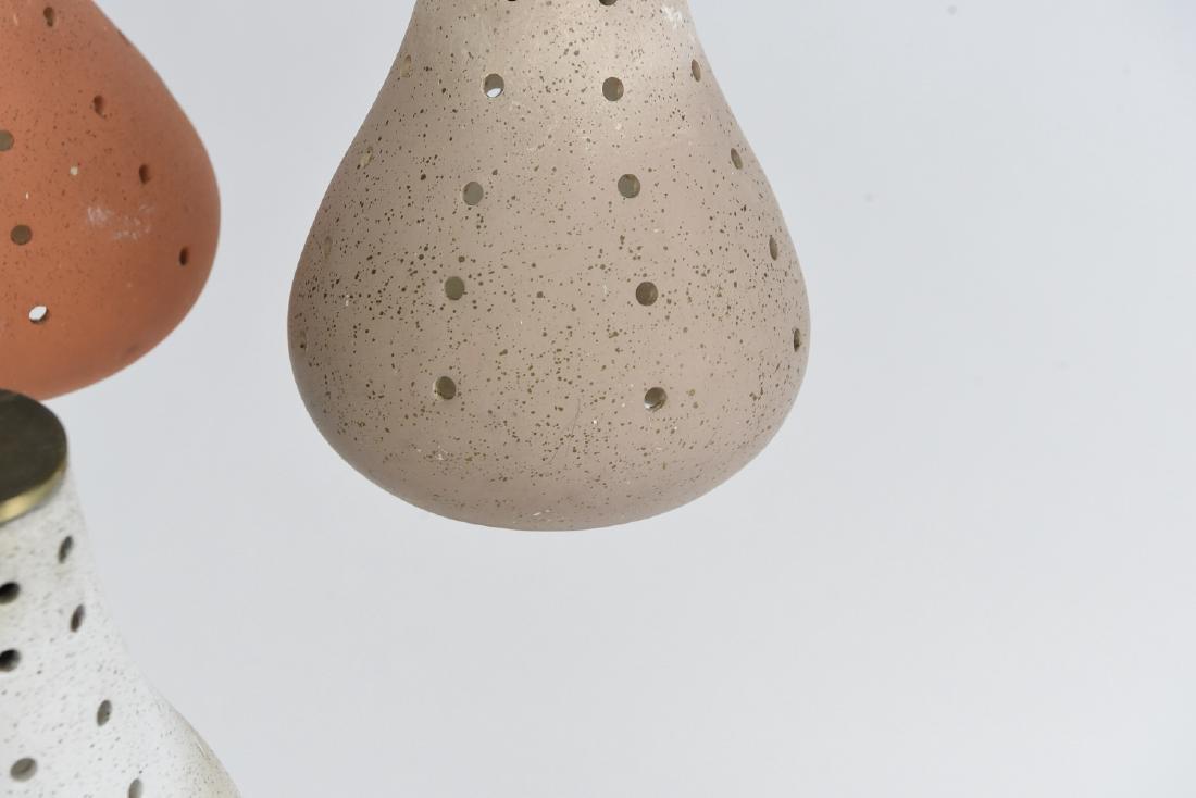 CERAMIC THREE LIGHT HANGING PENDANT LAMP - 4