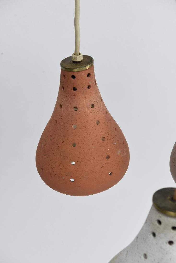 CERAMIC THREE LIGHT HANGING PENDANT LAMP - 6