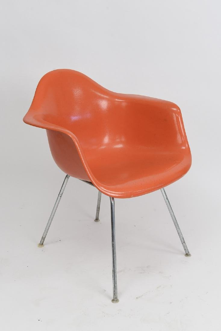 HERMAN MILLER ORANGE SHELL CHAIR