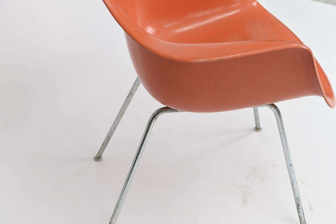 HERMAN MILLER ORANGE SHELL CHAIR - 6