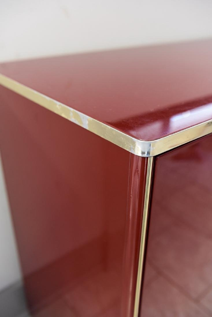ITALIAN RED LACQUER AND BRASS SIDEBOARD/DRESSER - 6