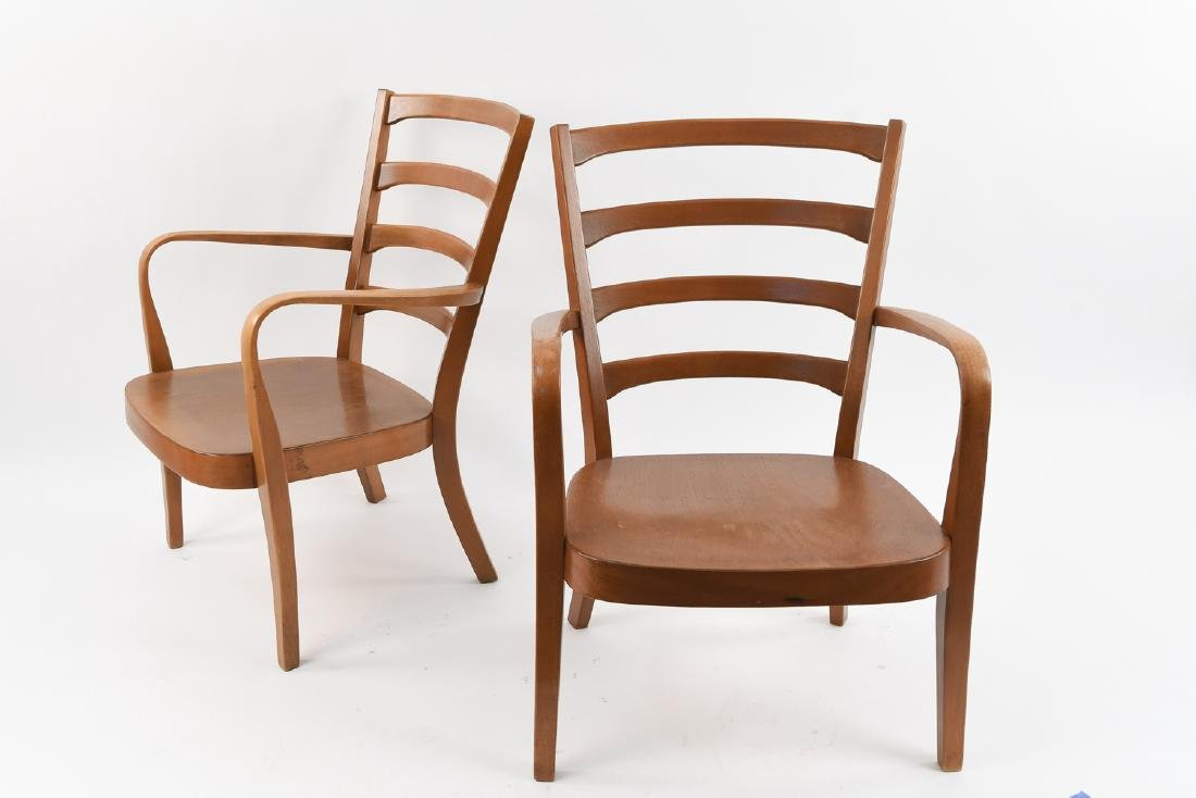 PAIR OF FRITZ HANSEN MID-CENTURY CHAIRS
