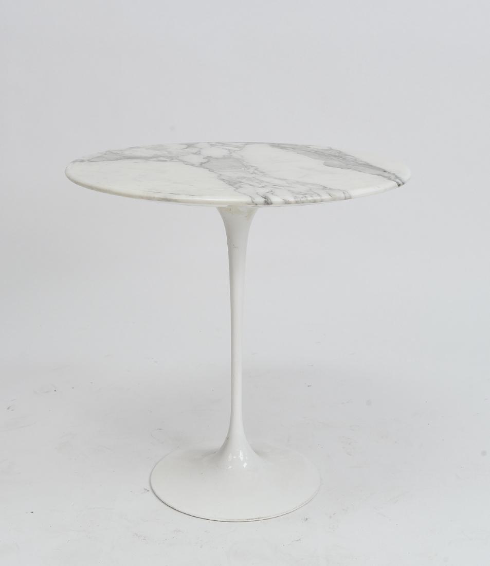 SAARINEN MARBLE TOP TULIP SIDE TABLE