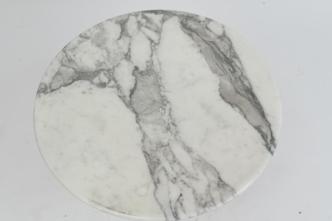 SAARINEN MARBLE TOP TULIP SIDE TABLE - 3