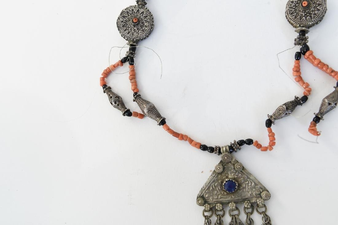 CORAL AND SILVER NECKLACE - 7