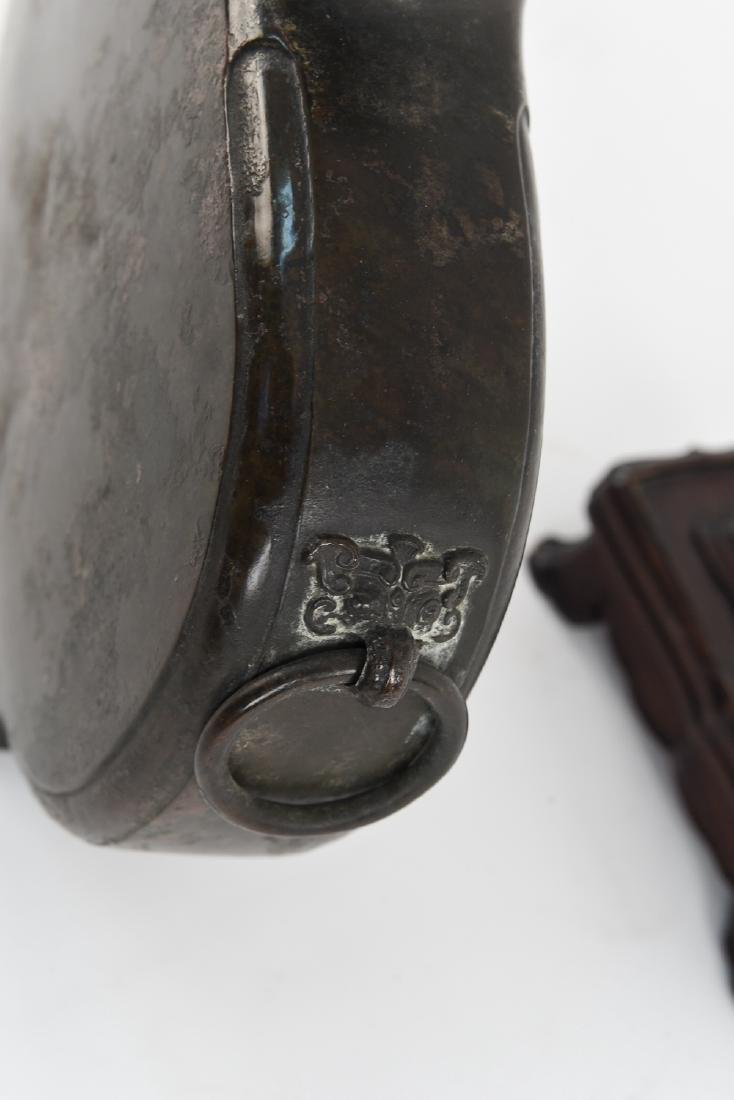 ANTIQUE CHINESE PATINATED BIAN HU VESSEL - 9