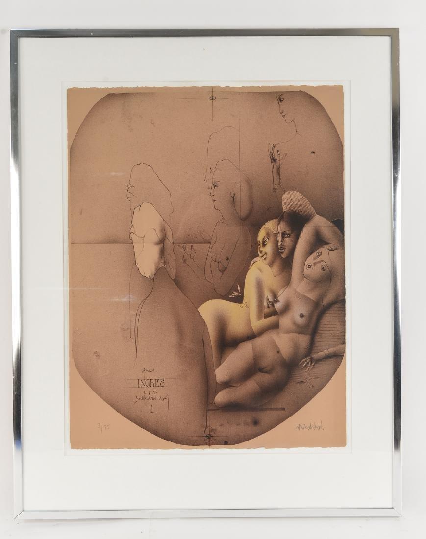 PAUL WUNDERLICH (GERMAN, 1927 - 2010 ) LITHOGRAPH
