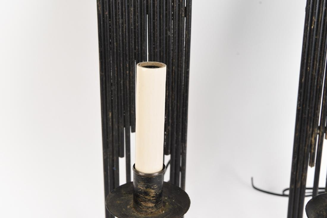 PAIR OF BRUTALIST METAL SCONCES - 6