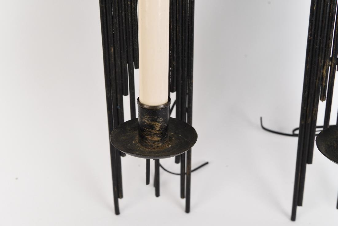 PAIR OF BRUTALIST METAL SCONCES - 7