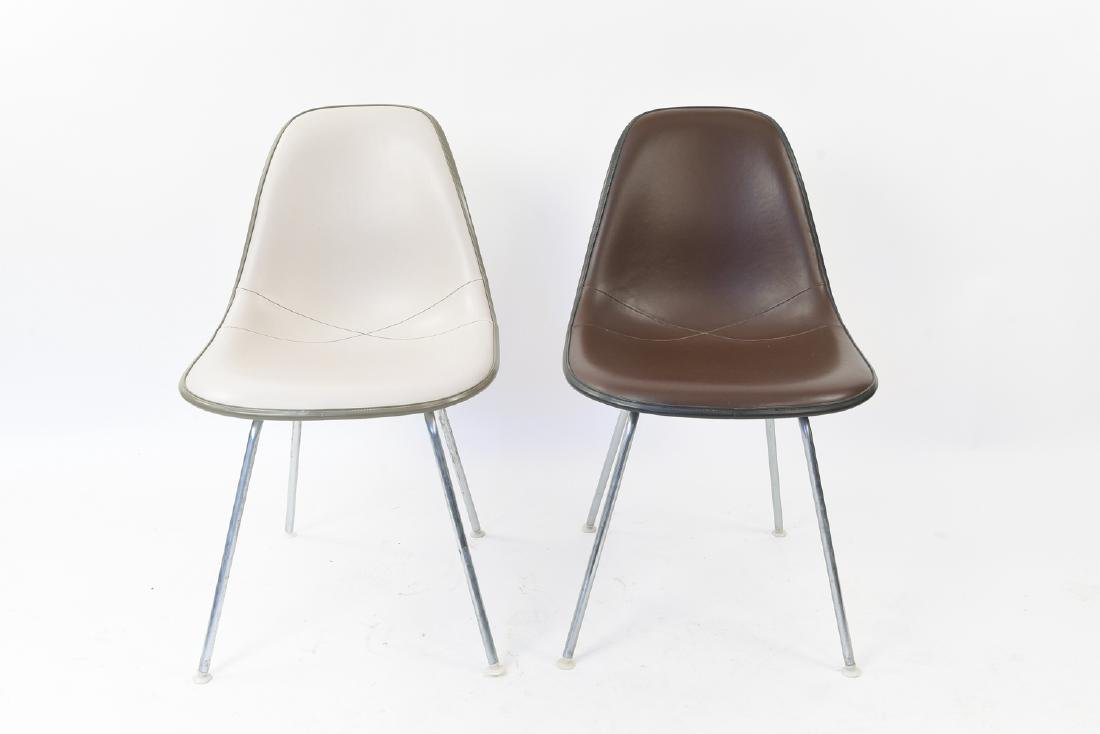 (2) EAMES HERMAN MILLER SHELL SIDE CHAIRS