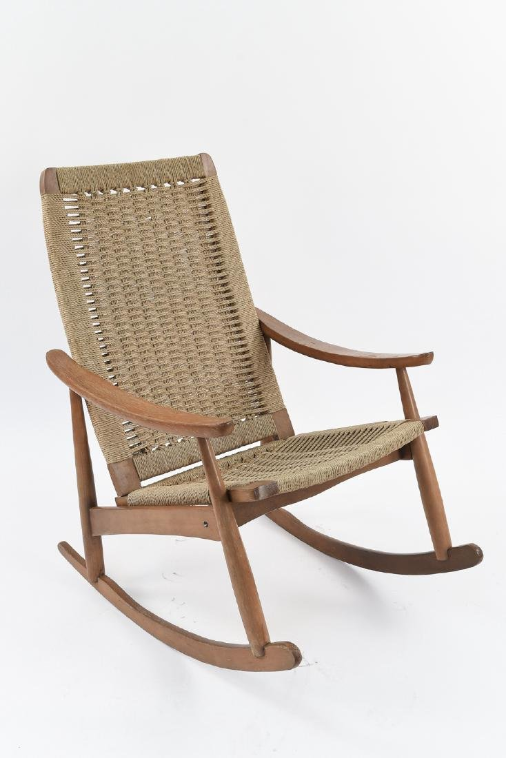STYLE OF HANS WEGNER YUGOSLAVIAN ROCKING CHAIR