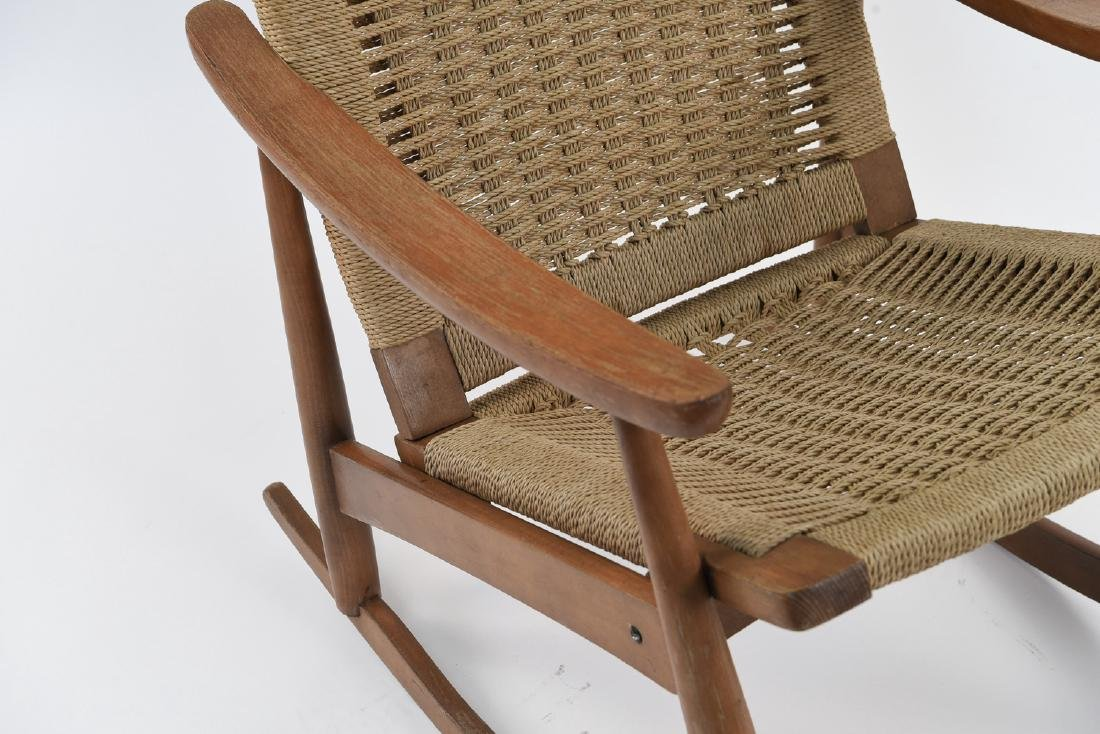 STYLE OF HANS WEGNER YUGOSLAVIAN ROCKING CHAIR - 2