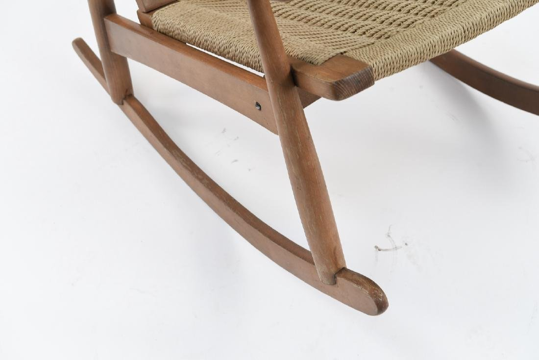 STYLE OF HANS WEGNER YUGOSLAVIAN ROCKING CHAIR - 3