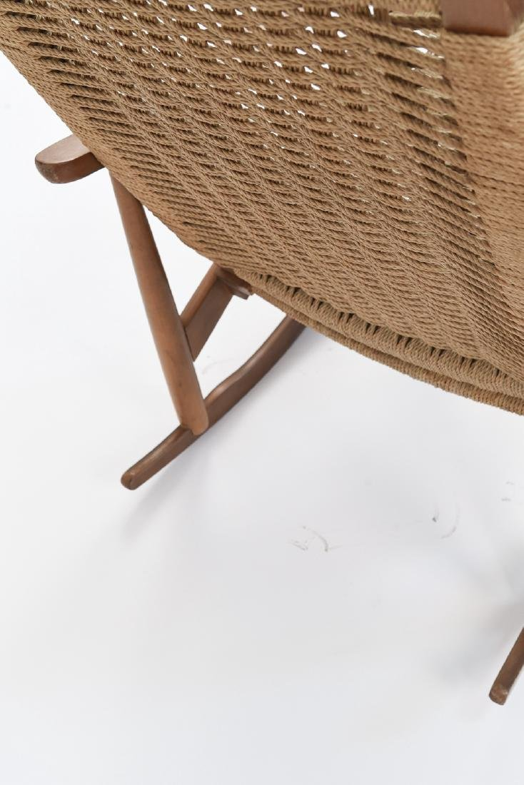 STYLE OF HANS WEGNER YUGOSLAVIAN ROCKING CHAIR - 7