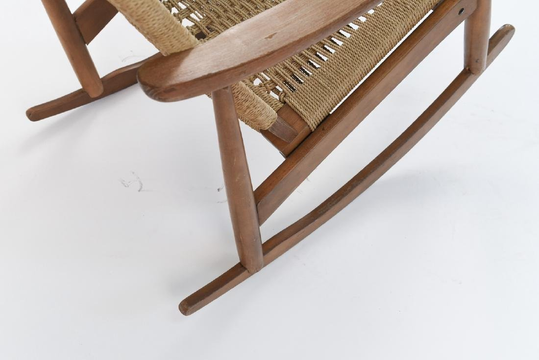 STYLE OF HANS WEGNER YUGOSLAVIAN ROCKING CHAIR - 8