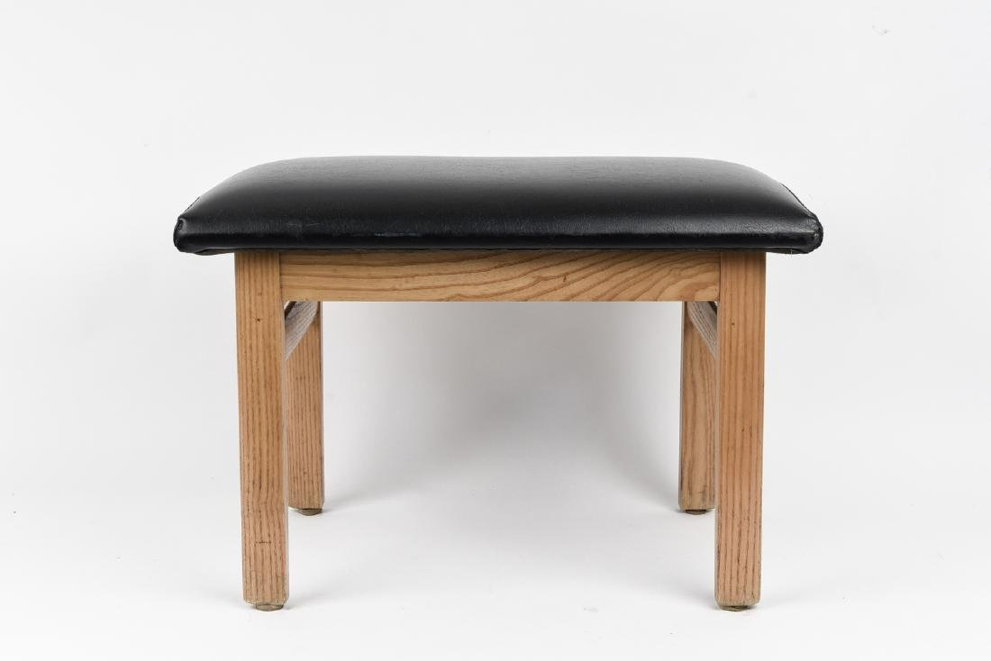 ATTR. FINN JUHL DANISH ASH WOOD STOOL OR OTTOMAN