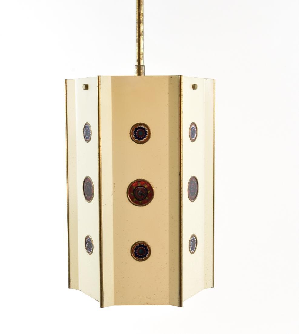 MID CENTURY JEWELED PENDANT LAMP