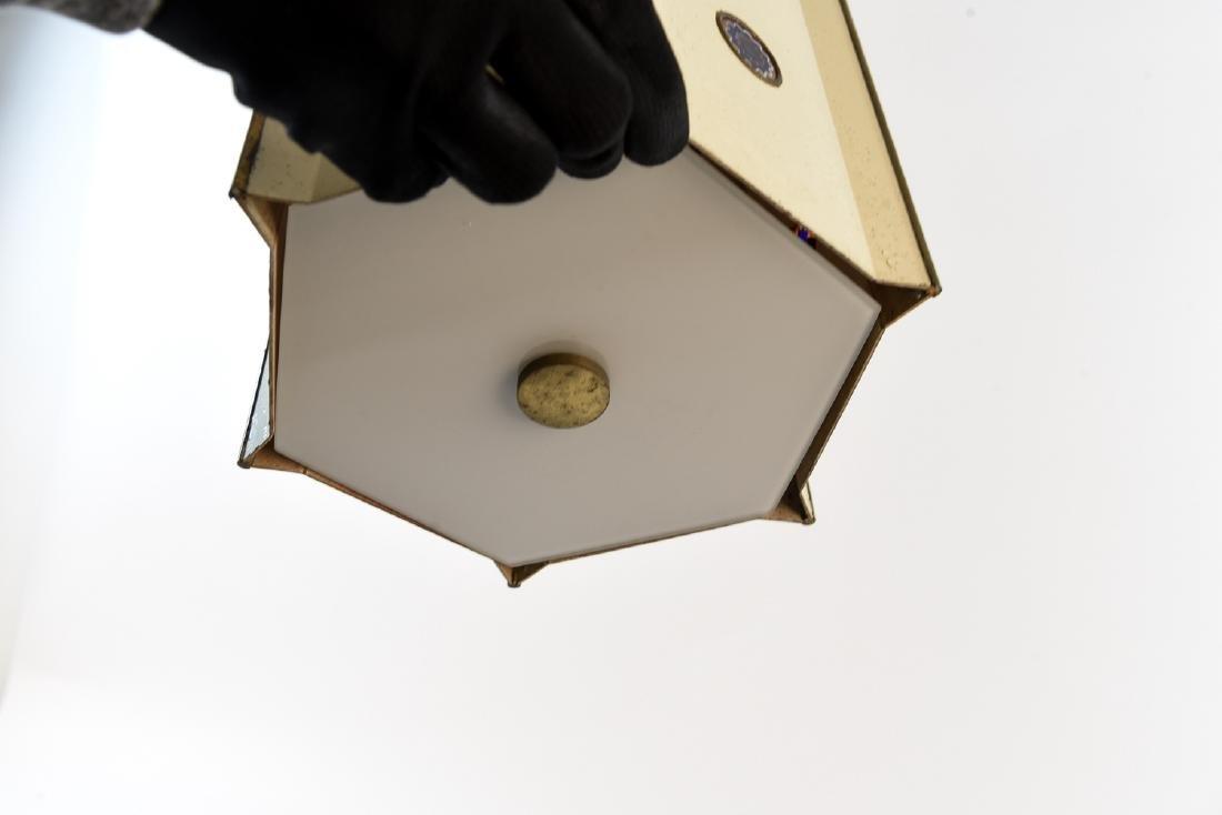 MID CENTURY JEWELED PENDANT LAMP - 7
