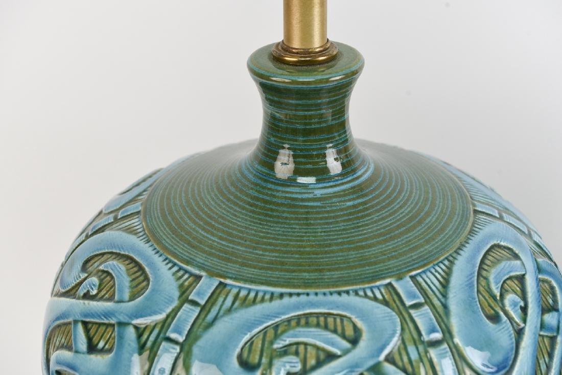 PAIR OF MID-CENTURY CERAMIC LAMPS - 4