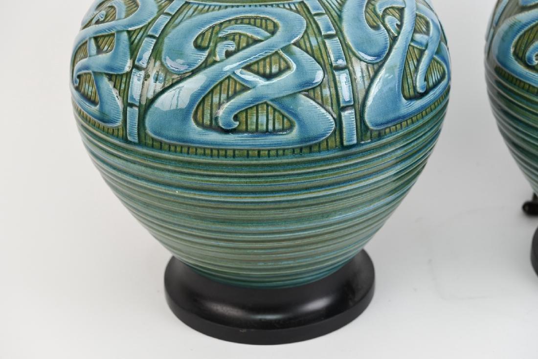 PAIR OF MID-CENTURY CERAMIC LAMPS - 6