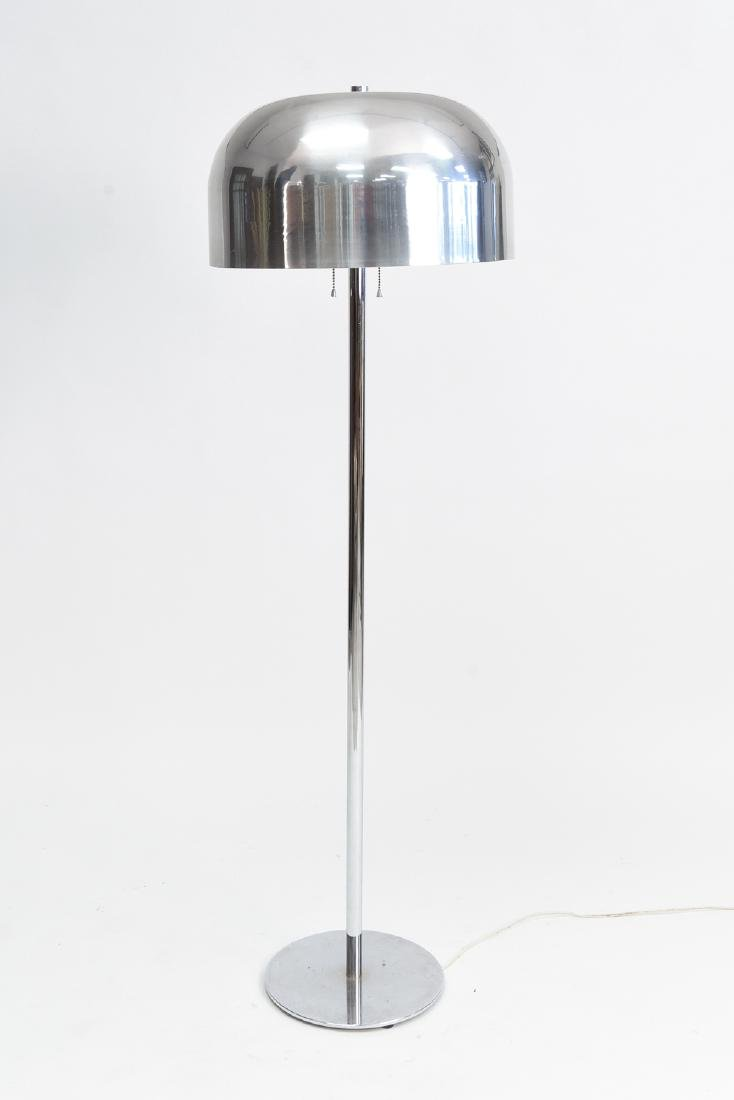 CHROME MUSHROOM SHADE FLOOR LAMP