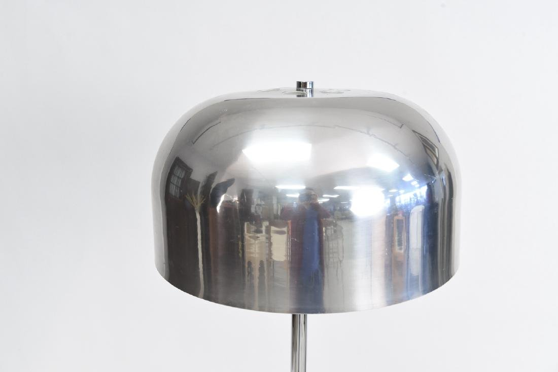 CHROME MUSHROOM SHADE FLOOR LAMP - 2
