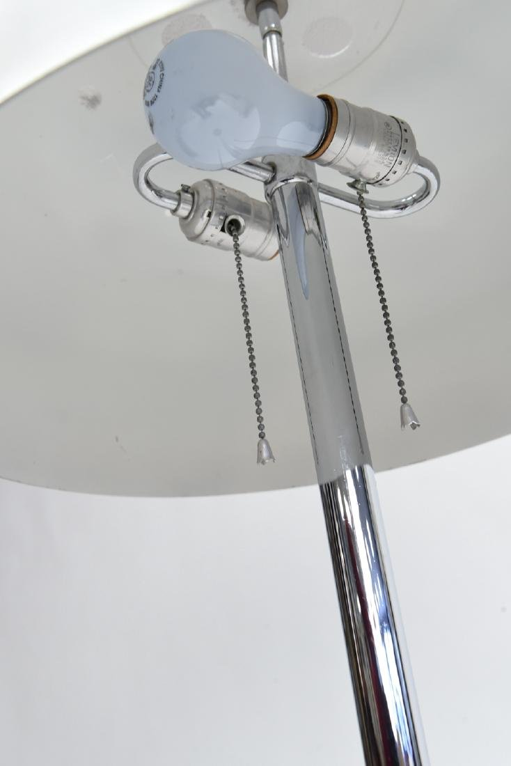 CHROME MUSHROOM SHADE FLOOR LAMP - 6