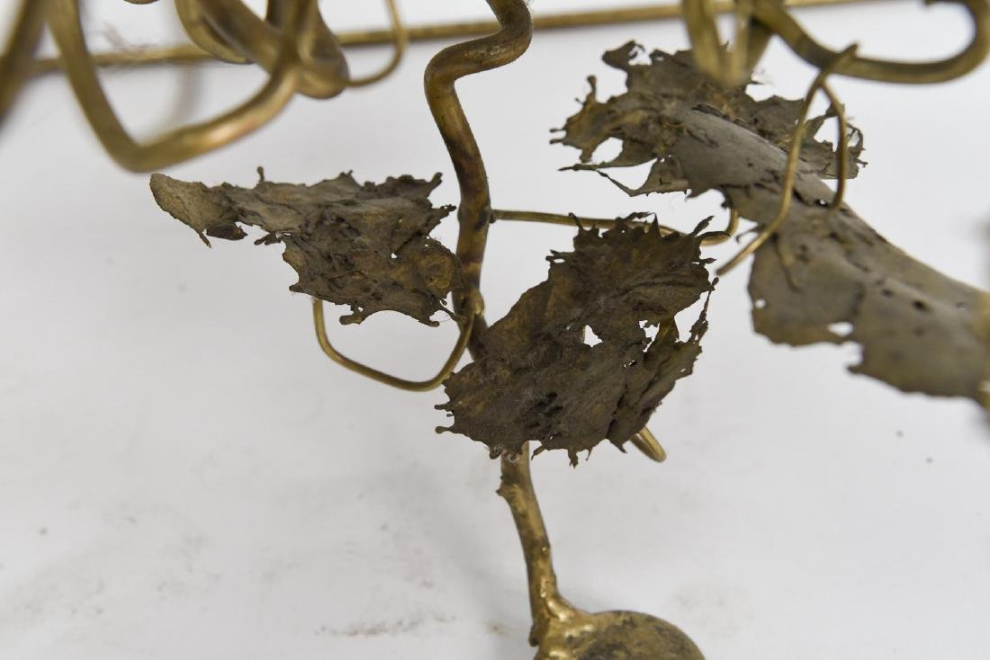 BRUTALIST BRASS FLOATING TREE SCULPTURE TABLE - 4