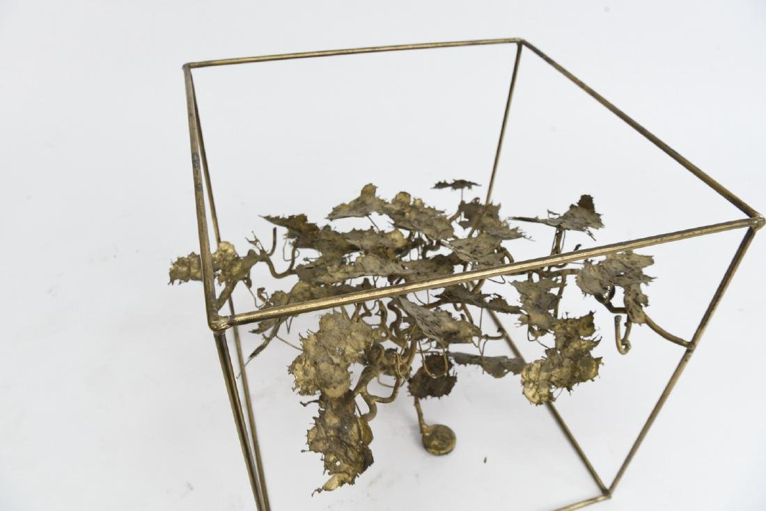 BRUTALIST BRASS FLOATING TREE SCULPTURE TABLE - 8