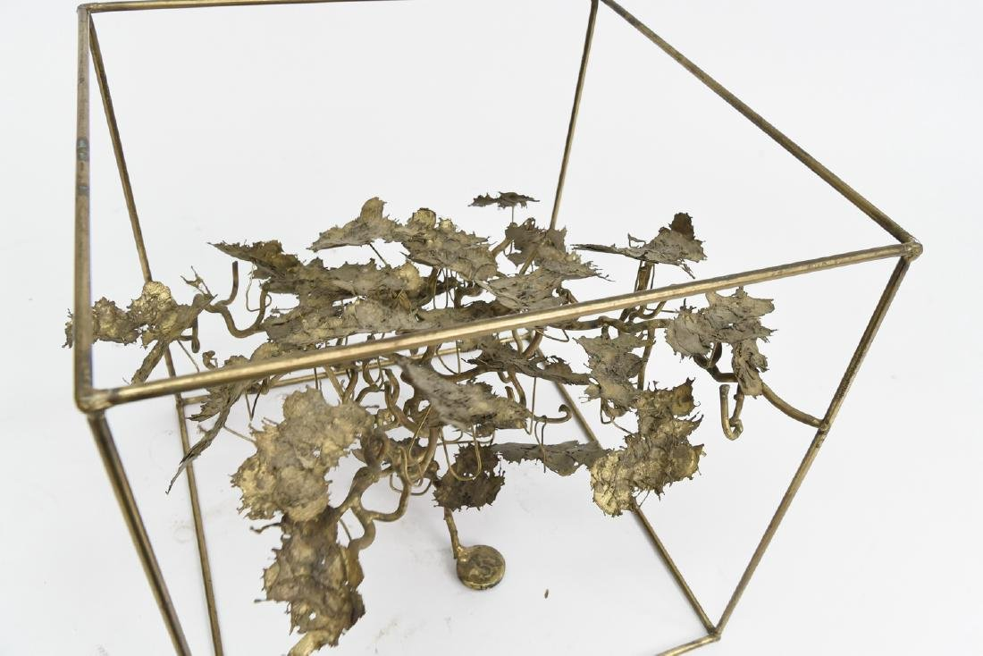 BRUTALIST BRASS FLOATING TREE SCULPTURE TABLE - 9