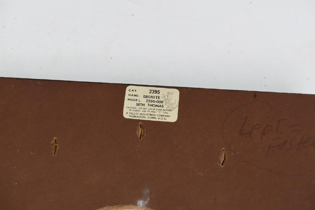 MID-CENTURY SETH THOMAS WALL CLOCK - 9
