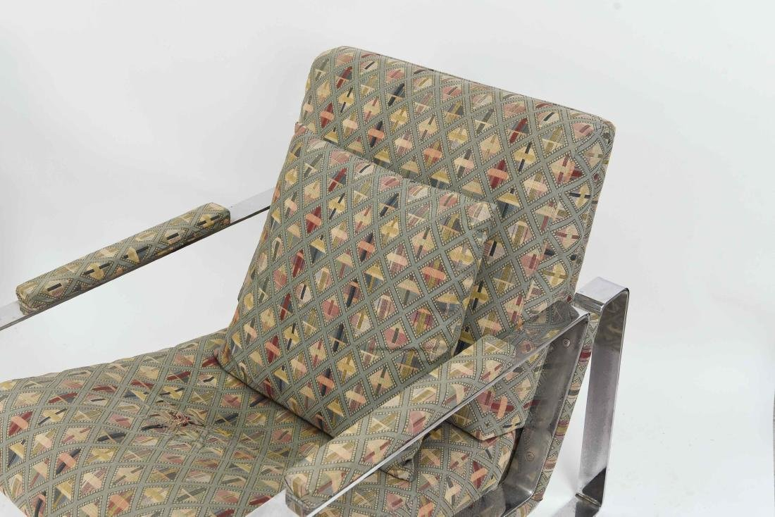PAIR OF MILO BAUGHMAN STYLE LOUNGE CHAIRS - 3