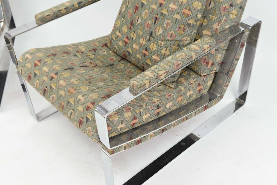 PAIR OF MILO BAUGHMAN STYLE LOUNGE CHAIRS - 4
