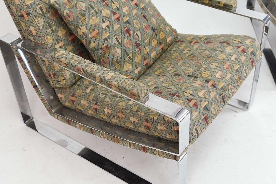 PAIR OF MILO BAUGHMAN STYLE LOUNGE CHAIRS - 5