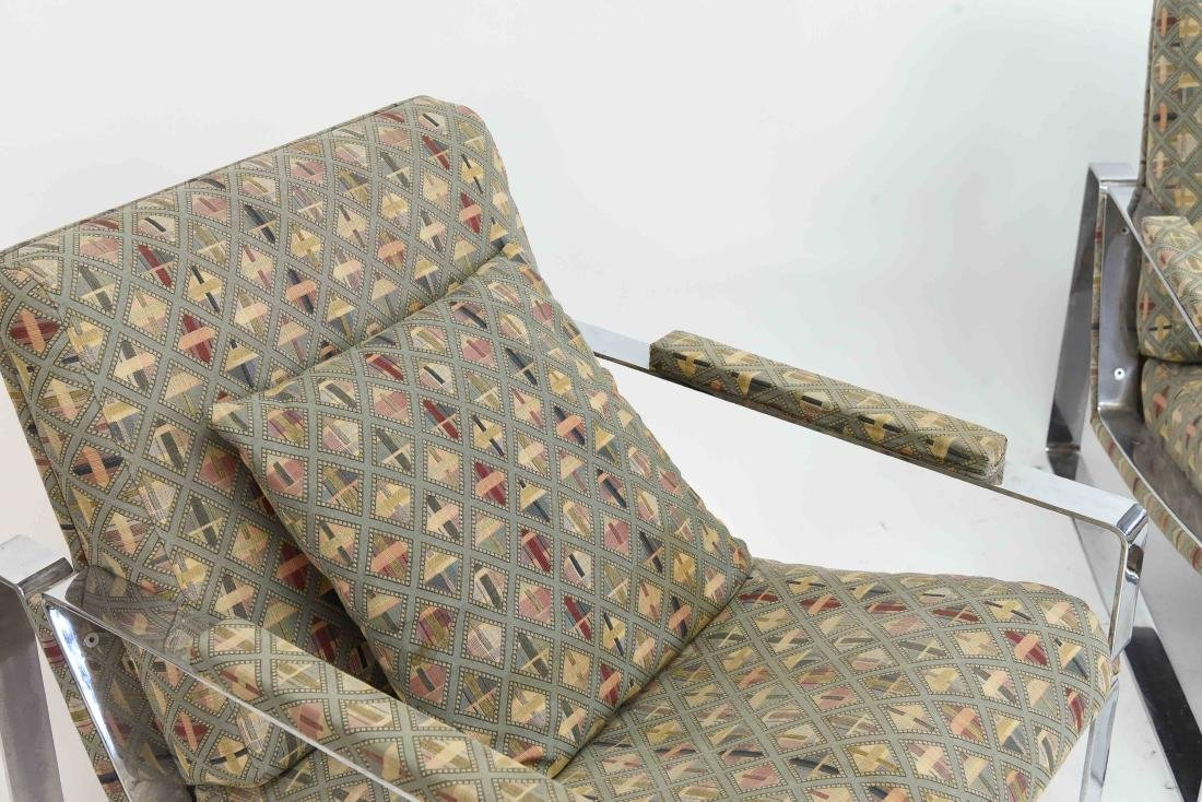 PAIR OF MILO BAUGHMAN STYLE LOUNGE CHAIRS - 6