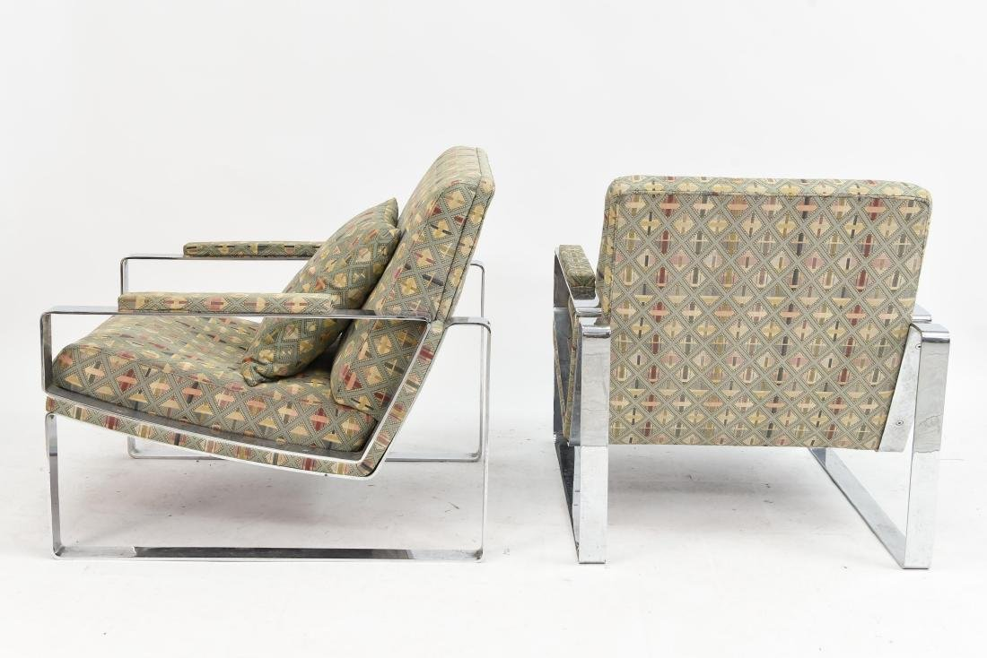 PAIR OF MILO BAUGHMAN STYLE LOUNGE CHAIRS - 7