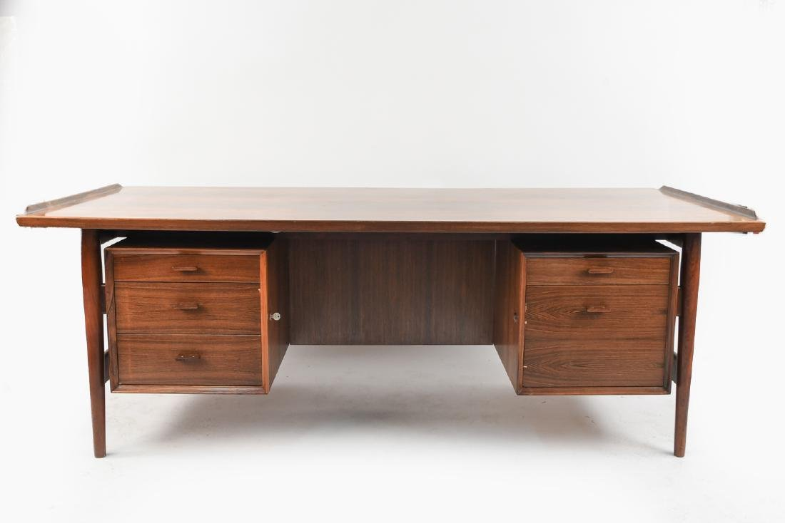 ARNE VODDER ROSEWOOD EXECUTIVE DESK FOR SIBAST
