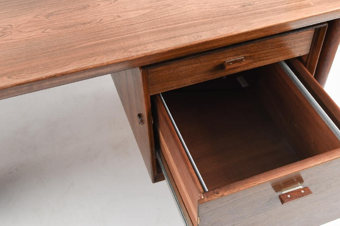 ARNE VODDER ROSEWOOD EXECUTIVE DESK FOR SIBAST - 4