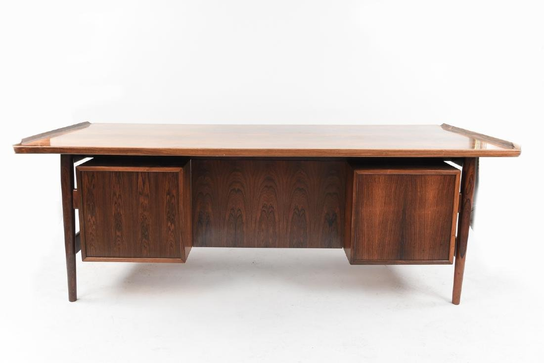 ARNE VODDER ROSEWOOD EXECUTIVE DESK FOR SIBAST - 5