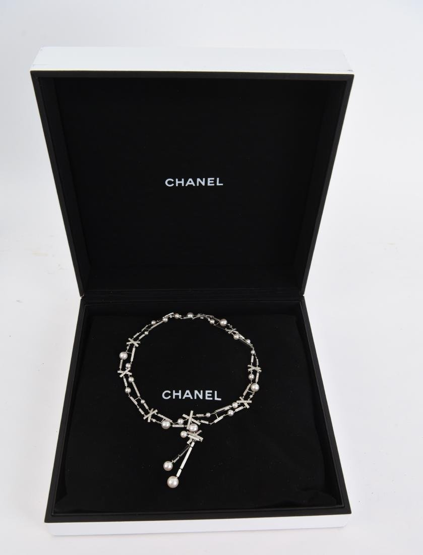 LORENZ BAUMER FOR CHANEL PEARL & DIAMOND NECKLACE