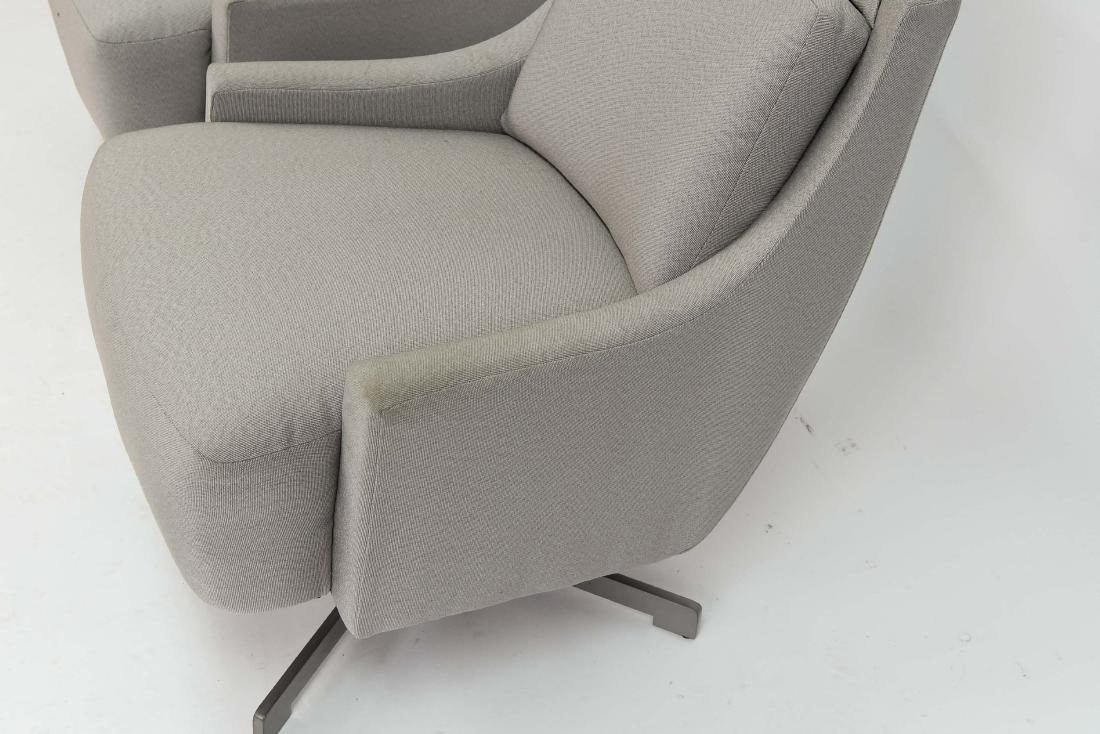 PAIR OF HBF SWIVEL LOUNGE CHAIRS - 7