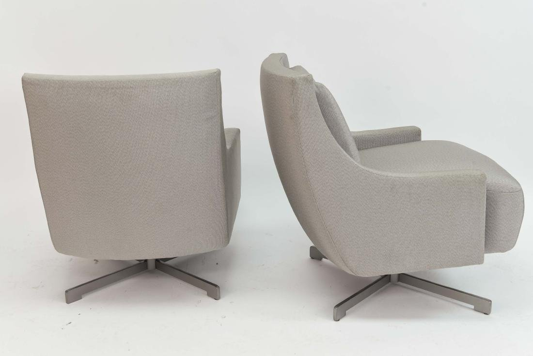 PAIR OF HBF SWIVEL LOUNGE CHAIRS - 8