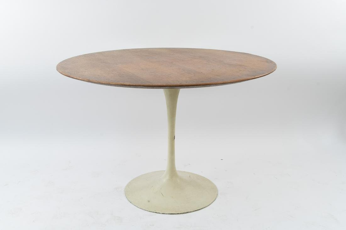 SAARINEN FOR KNOLL WALNUT TOP TULIP TABLE