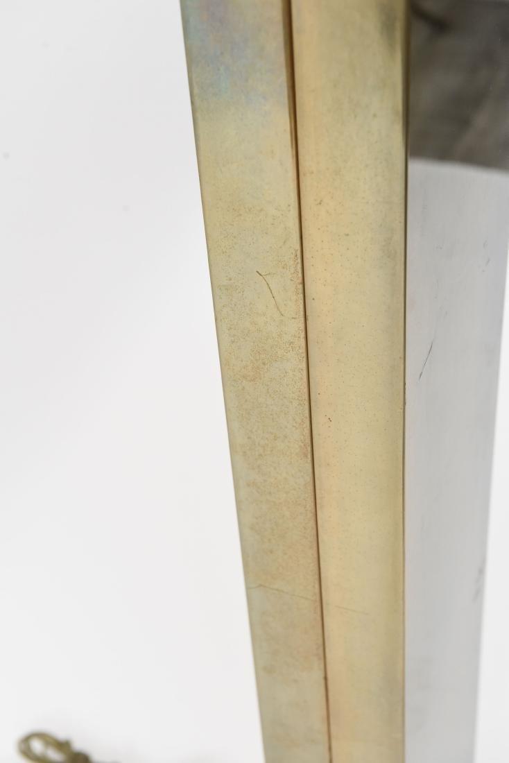 MID CENTURY BRASS FLOOR LAMP - 8