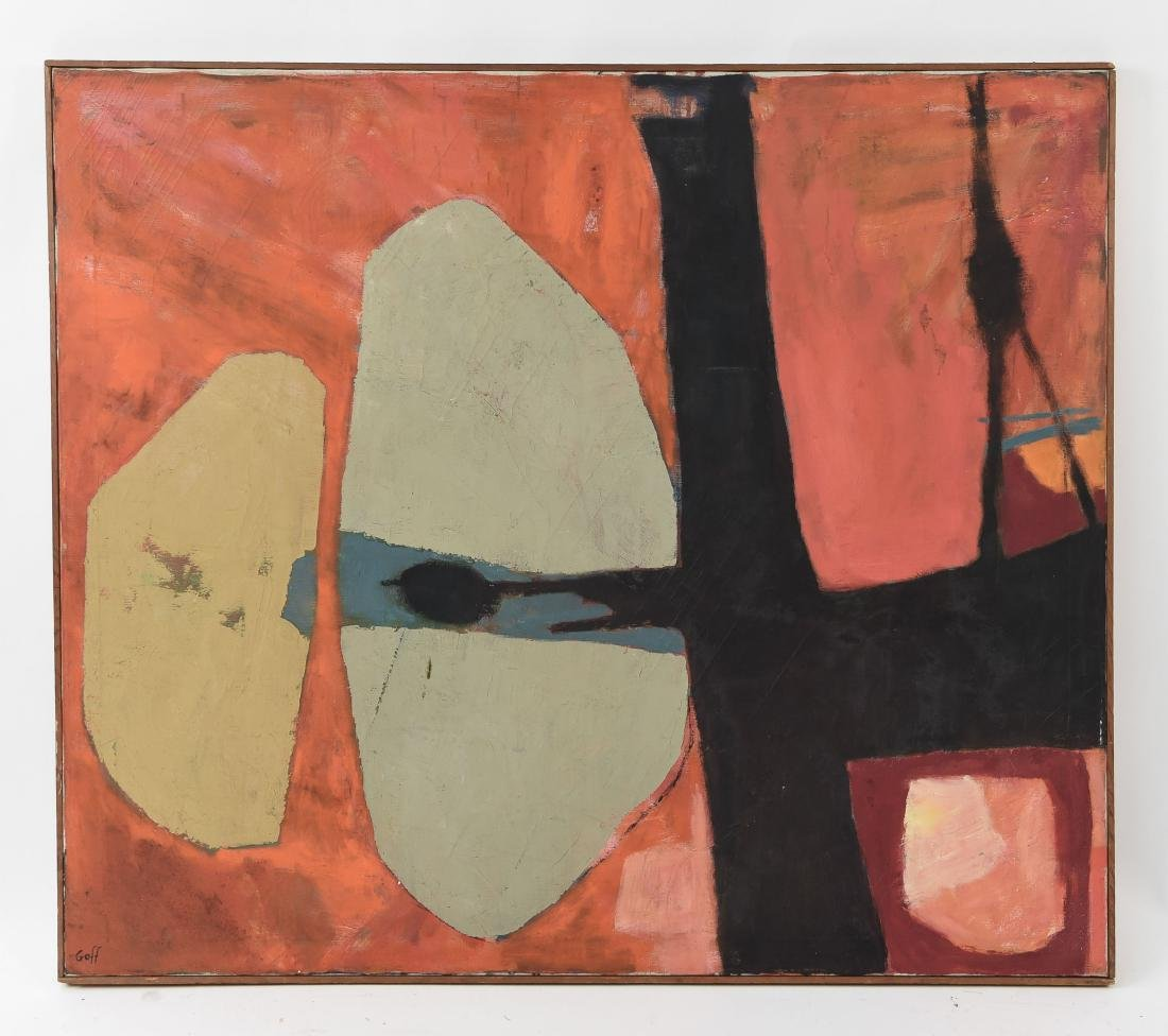 KATHERINE GOFF MID-CENTURY ABSTRACT PAINTING