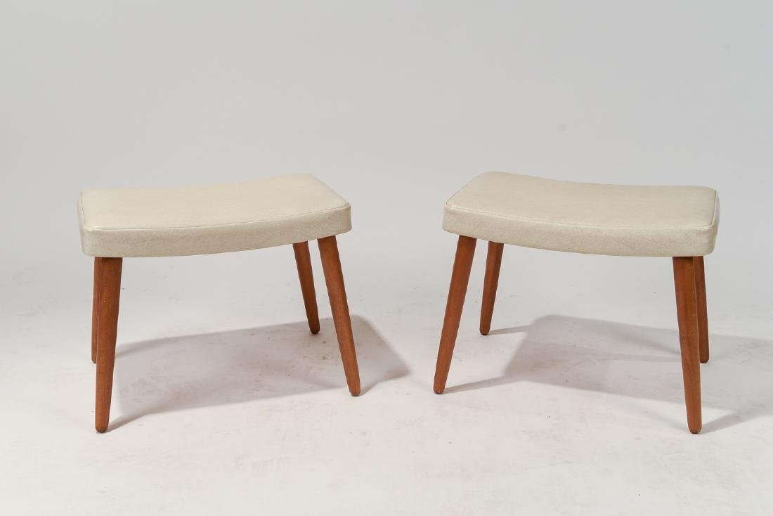 PAIR OF DANISH MID-CENTURY STOOLS